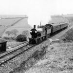 North Cornwall Railtour on Treneglos embankment.