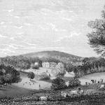 1885 engraving of Trelaske near Lewannick.