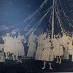 Altarnun C OF E School maypole dancers in 1911.