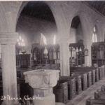 Altarnun Church interior in 1934