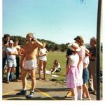 Ashley Burford at a Altarnun Carnival sports day in the late 1970's. Photo courtesy of Chris Brown.