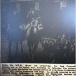 East Cornwall Hunt meet at the Rising Sun in 1957.