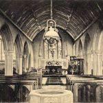 St. Martins Church, Lewannick interior in 1906.