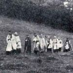 Altarnun pilgrimage with the Bishop of Truro to the holy well in 1923.